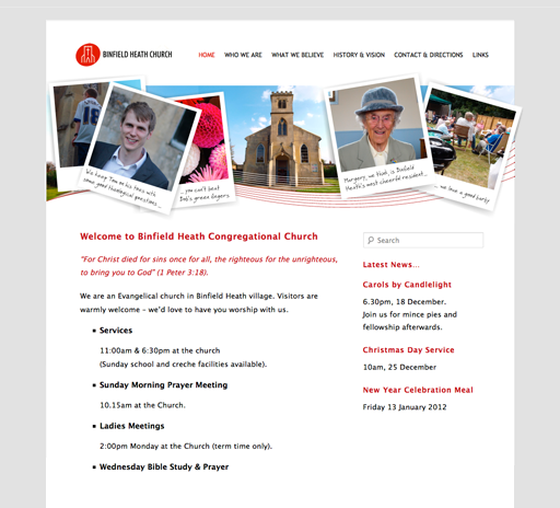 Binfield Heath website